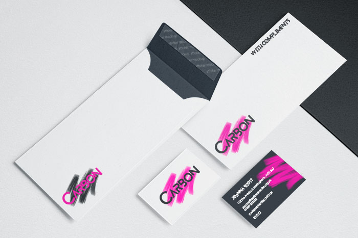 Design for business Carbon Logo design and business stationery