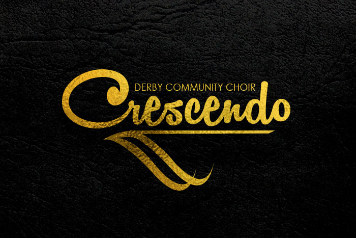 Design for business Crescendo Derby Community Choir Logo design.