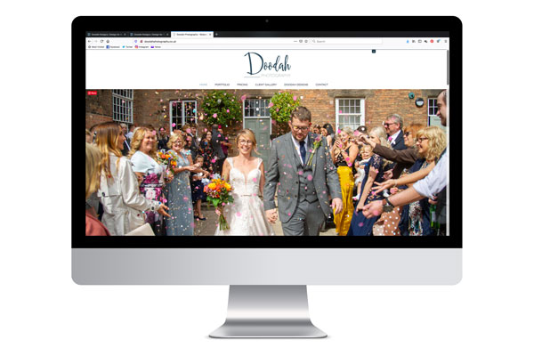 Design for business Doodah Photography Website Design