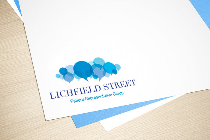 Design for business Lichfield Street Patient Representative Group Logo design.