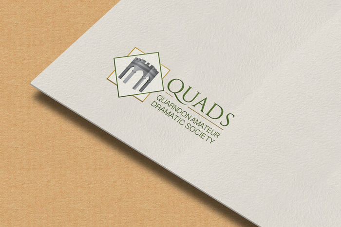 Design for business Quarndon Amateur Dramatic Society Logo design.