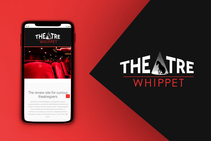 Design for business Theatre Whippet Logo design and responsive mobile website.