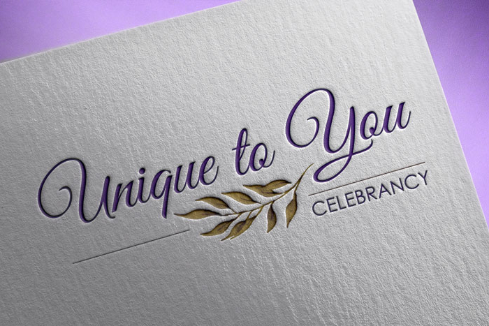 Design for business Unique to You Celebrancy Logo design