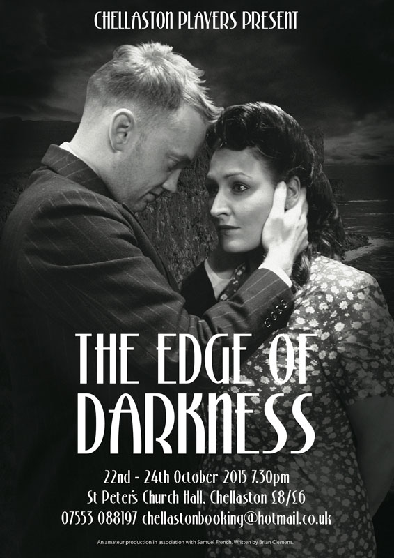 Theatre and Event poster and flyer marketing promotional image design for The Edge of Darkness
