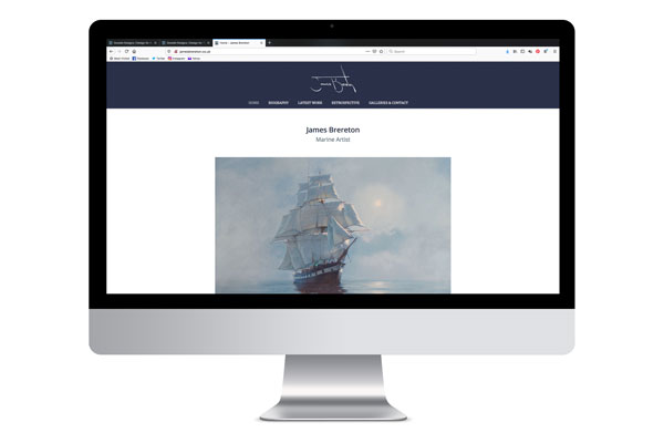 Design for business James Brereton Marine Artisit Website Design