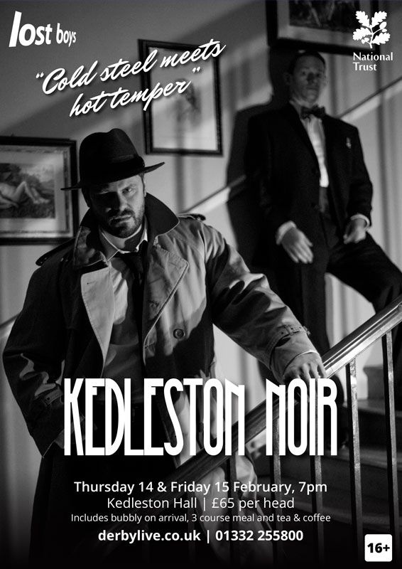 Theatre and Event poster and flyer marketing promotional image design for Kedleston Noir