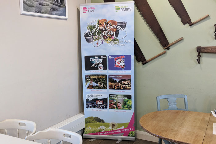 Theatre and Event promotional pull up banners