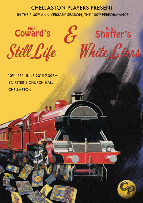 Theatre and Event poster and flyer marketing promotional image design for Still Life and White Liars