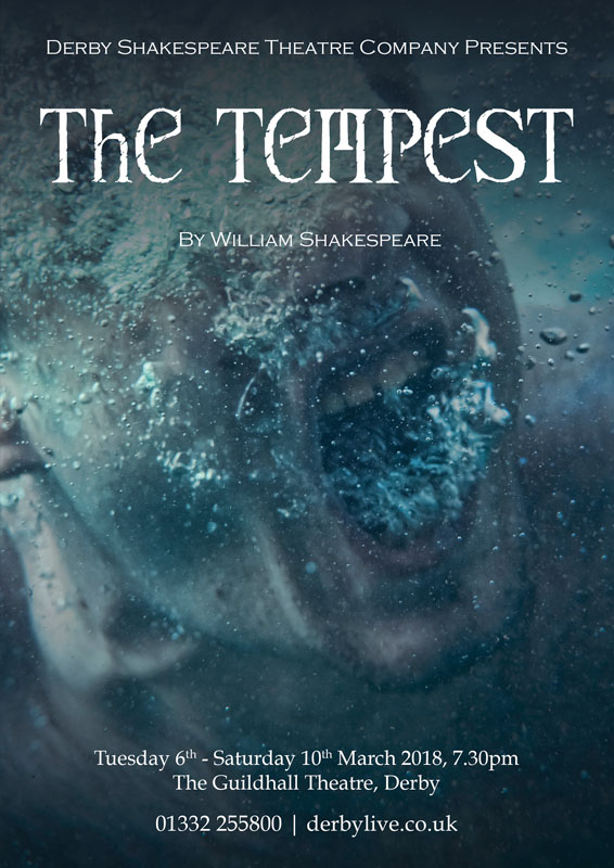 Theatre and Event poster and flyer marketing promotional image design for Shakespeare's The Tempest